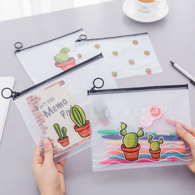 Creative Kawaii Cactus Pencil Case Pencil Box Pen Bag School Supplies Stationery