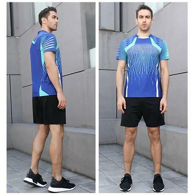 Men's Quick-drying Breathable Tennis Sportswear Tops Sports Shorts T-shirt Suit