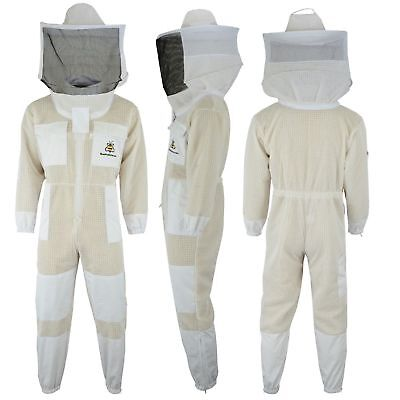 Bee 3 Layer beekeeping full suit ventilated jacket Round veil-all sizes