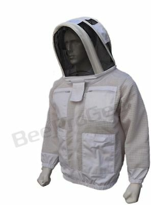 3 Layer beekeeping jacket bee outfit ventilated protective Astronaut Veil hat 87
