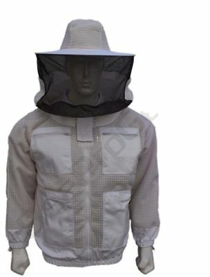 Premium Protecting 3 Layer Ultra Ventilated beekeeping jacket Round veil-xy01