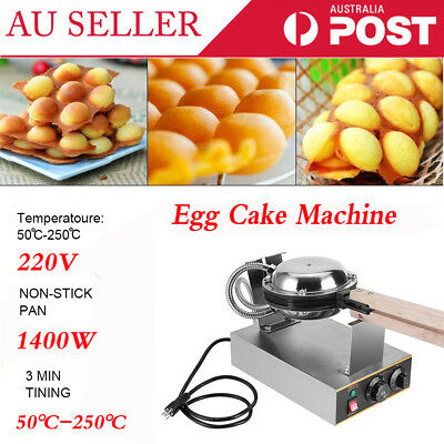 Electric Egg Waffle Maker Puff Cake Oven 220V 50℃-250℃ Baker Machine  Non-stick