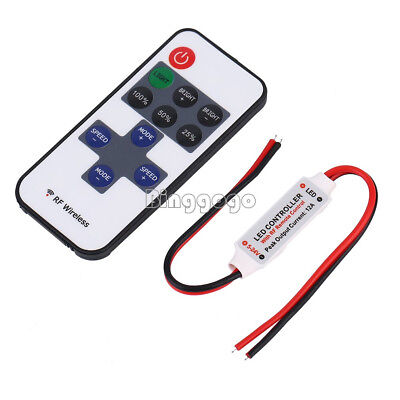 12V Dimmer Controller RF Wireless Remote Switch Controller for LED Strip Light D