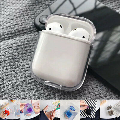 For Apple AirPods Charging Case Clear Crystal Case Bag Hard PC AirPod Cover Skin
