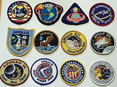 NASA Apollo Mission Patch Set Apollo 1,7,8,9,10,11,12,13,14,15,16,17