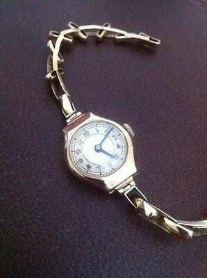 Ladies Vintage Swiss Made 9ct Gold Wristwatch - Chester 1937 - Working