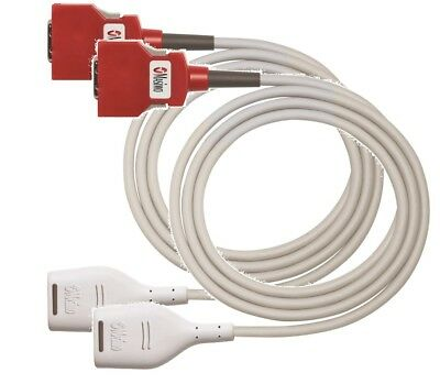 PACK OF 2 Masimo 4104 RD SET 20 PIN MD20-12: SpO2; Patient Cable, 3.7 mt, 12 ft.