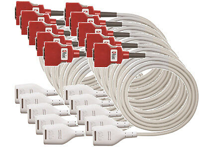 PACK OF 10 Masimo 4104 RD SET 20 PIN MD20-12: SpO2; Patient Cable, 3.7 mt 12 ft