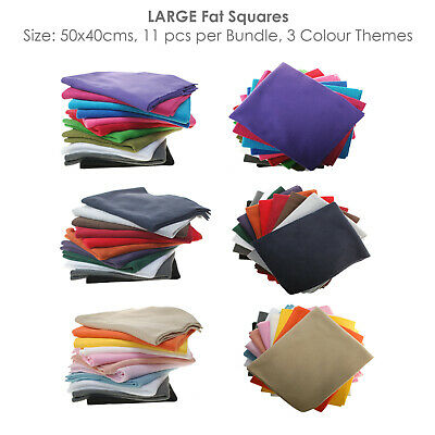 Polar Fleece Anti Pill Fat Squares Fabric Bundles,11 Colors,3 Combos,Great Price