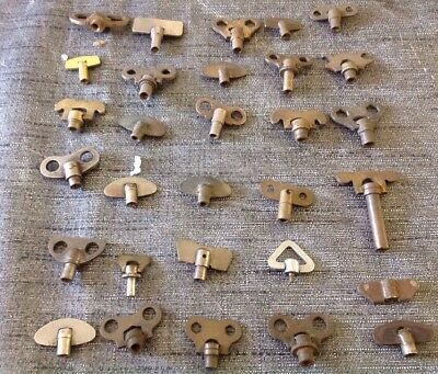 Antique Clock Winders 30 From Clockmakers Collection Screw Type
