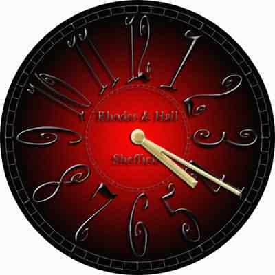 NOVELTY WALL CLOCK - Gothic Red and Black Design (1) - Decorative Wall Clock