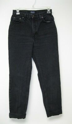VTG 90s Faded Black Gap Slim Fit USA High Rise Waist Tapered Leg Mom Jeans 27x31