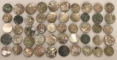 Lot Of 25 Old Stock Mother Of Pearl – Abalone Shell Cutouts (#7)