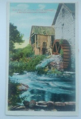 Vintage Postcard , Old Mill At Killin, On The Dochart ,a Noted Highland Resort