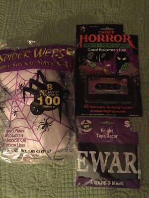 NEW Halloween Cassette Tape Party  Music Horror Voices Sounds —Fright Tape LOT