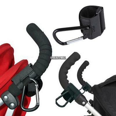Self-adhesive Stroller Metal Hook Holder Baby Carriage Accessories MY8L