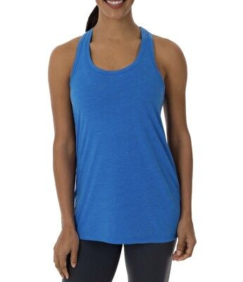 2d625a2c3560c Athletic Works Women Active Workout Racerback Tank Top Shirt Blue Siz XS
