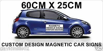 Vinyl and Magnetic Vehicle Signs for Vans, Cars, Trucks 60cmx25cm