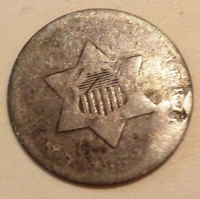 1856 Silver 3 Cent Piece Coin