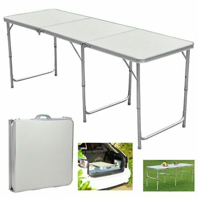 6 FT Heavy Duty Folding Table - Portable Festival Camping Party Picnic BBQ UK