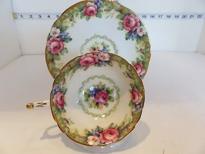 Paragon Cup And Saucer Tapestry Rose Very Pretty