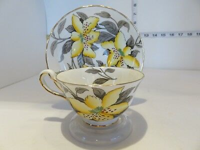 Very Pretty Royal Chelsea Wide Mouth  Cup And Saucer With Lillies England