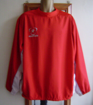 Mens Rugbytech Red & White Pullover Training Jacket Size Large