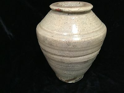 "Antique Chinese song-yuan dynasty longquan celadon vase 17thC 7.5"" crackle glaze"