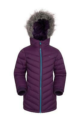 Mountain Warehouse Girls Sally Padded Jacket with Faux Fur Hood
