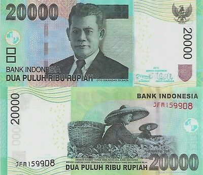 Indonesia 20000 Rupiah (2014) - Women in Rice Paddy/p151d UNC