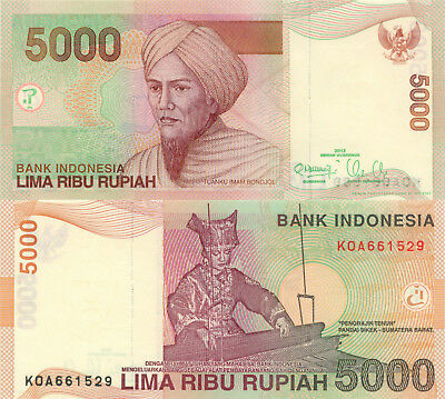 Indonesia 5000 Rupiah (2013) - Woman working Loom/p142m UNC