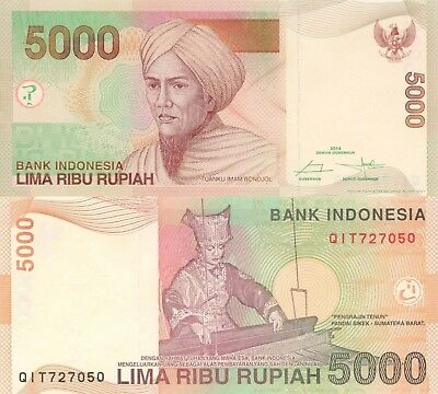 Indonesia 5000 Rupiah (2014) - Woman working Loom/p142n UNC