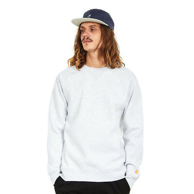 Carhartt WIP - Chase Sweat Ash Heather / Gold Pullover Rundhals