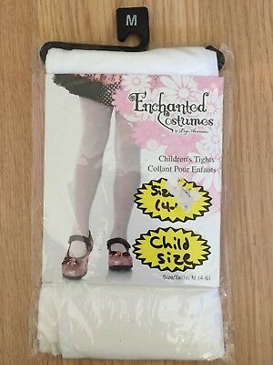 Enchanted Costumes white tights child size M (4-6)