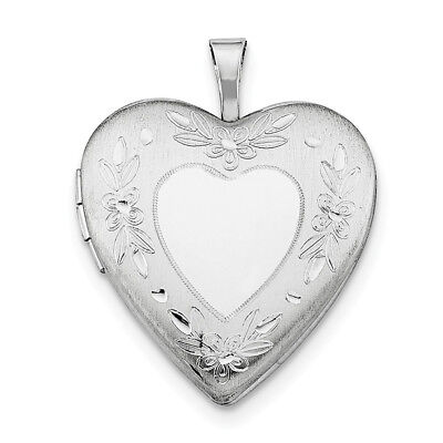 Sterling Silver Rhodium-plated 20mm Hands Heart Locket Qls405 At Any Cost Fine Jewelry Precious Metal Without Stones