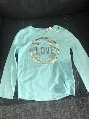 NEW the childrens place girls size S 5/6 iced mint long sleeve