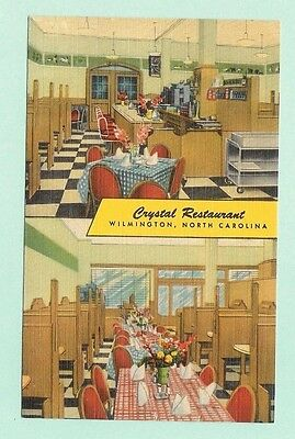 """Wilmington NC Crystal Restaurant 26 North Front Street """"City's Finest"""" Linen PC"""
