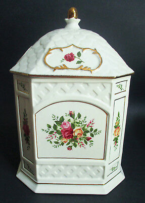 Royal Albert Old Country Roses Gazebo Cookie Jar Biscuit Barrel Limited Edition