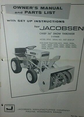 jacobsen and ford garden tractor and implement manuals pdf format