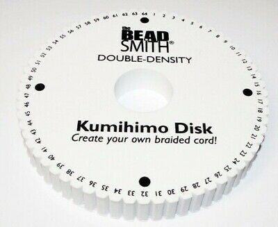 "64 Slot Double Density (20mm/ 3/4""  thick) Kumihimo Round Disk Plate 6 inch"