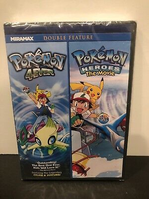 New Rare Oop Pokemon 4Ever Pokemon Heroes The Movie Double Feature Animated Dvd