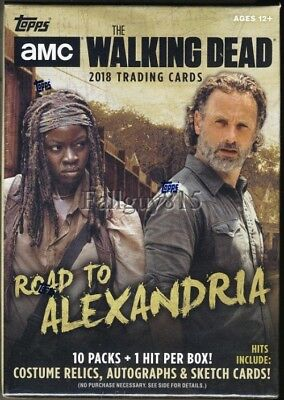 2018 Topps Walking Dead Road to Alexandria Guaranteed Sketch or Auto Hot Box  a