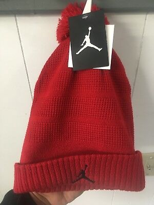 55baa2892a8 NIKE JORDAN JUMPMAN Knit Cuff Beanie Skull Cap with Pom Pom Youth 8 ...