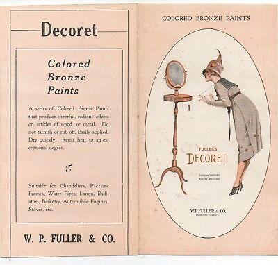 1920s Advertising Brochure for Fuller's Colored Bronze Paints with Paint Samples