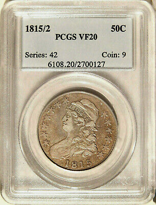 1815/2 50c PCGS VF-20 ~ LOW MINTAGE CAPPED BUST HALF DOLLAR