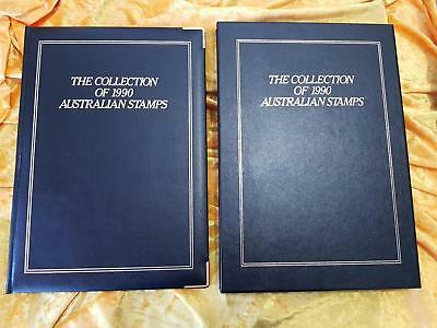 AUSTRALIA POST YEARBOOK 1990 EXECUTIVE BLACK LEATHER - NO STAMPS - PERFECT Cond.