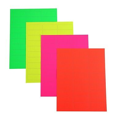 3000 address labels/100 sheets fluorescent color amazon FBA labels 30up