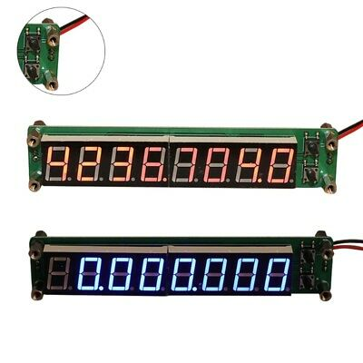 0.1-60MHz 20MHz-2.4GHz RF 8 Digit Singal LED Frequency Counter Cymometer Tester