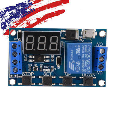 6-30V Relay Module Switch Trigger Time Delay Circuit Timer Cycle Adjustable US