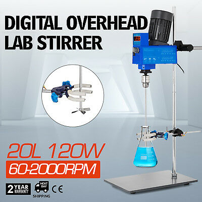 Digital Laboratory Overhead 2000RPM Stirrer Mixer 20L Efficient LCD Industrial